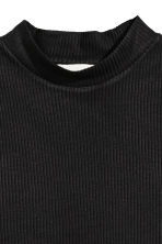 Ribbed jersey dress - Black - Ladies | H&M CA 3