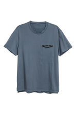 Short-sleeved sports top - Dark grey-blue - Men | H&M CN 2