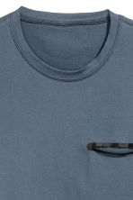 Short-sleeved sports top - Dark grey-blue - Men | H&M 3