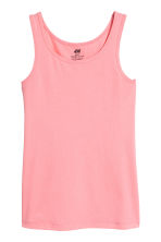 Jersey vest top - Coral pink -  | H&M CA 2
