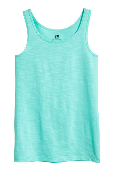 Jersey vest top - Turquoise -  | H&M 1