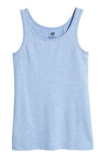 Jersey vest top - Light blue -  | H&M 2