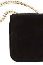 Suede pouch bag with a chain - Black - Ladies | H&M 2