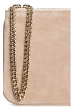 Suede pouch bag with a chain - Light beige - Ladies | H&M 2