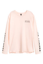 Long-sleeved T-shirt - Powder pink - Ladies | H&M 2