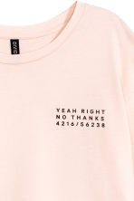 Long-sleeved T-shirt - Powder pink - Ladies | H&M 4