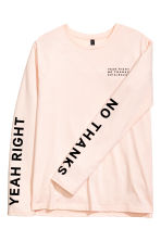 Long-sleeved T-shirt - Powder pink - Ladies | H&M 3