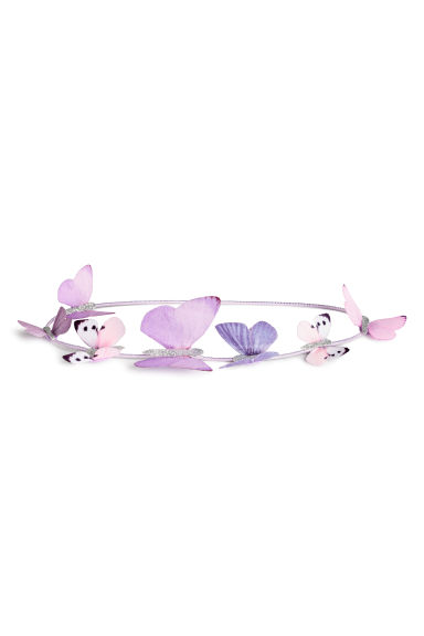 Hairband with butterflies - Light purple - Kids | H&M 1