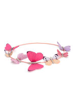 Hairband with butterflies - Neon pink - Kids | H&M 1