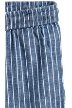 Cotton joggers - Dark blue/Striped - Ladies | H&M CN 3