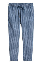 Cotton joggers - Dark blue/Striped - Ladies | H&M CN 2