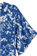 Blouse with trumpet sleeves - Dark blue/Floral - Ladies | H&M 3