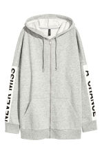 Oversized hooded jacket - Grey marl - Ladies | H&M 2