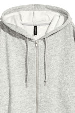 Oversized hooded jacket - Grey marl - Ladies | H&M 4