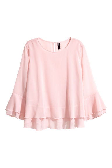 Double-layered blouse - Light pink -  | H&M CA