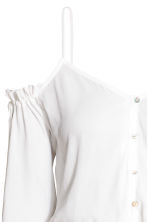 Off-the-shoulder blouse - White - Ladies | H&M 3