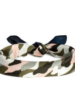 Scarf/Hairband - Khaki green/Patterned - Ladies | H&M CN 3