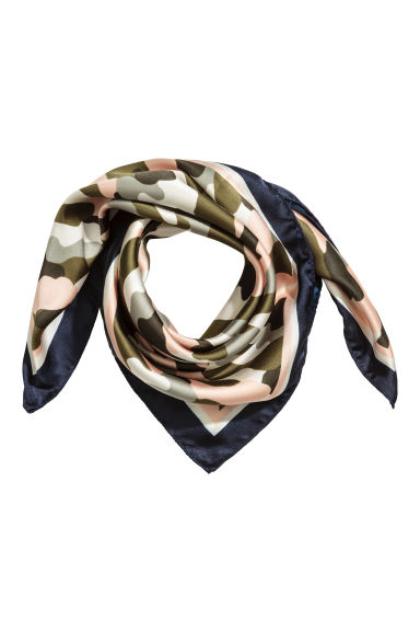 Scarf/Hairband - Khaki green/Patterned - Ladies | H&M CN 1
