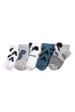 5-pack shaftless socks - Grey/Mickey Mouse - Kids | H&M 2