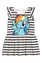 Printed jersey dress - White/My Little Pony -  | H&M 2