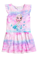 Printed jersey dress - Pink/Frozen - Kids | H&M 2