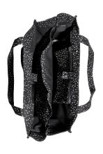 Cotton canvas changing bag - Dark grey/Spotted -  | H&M 2