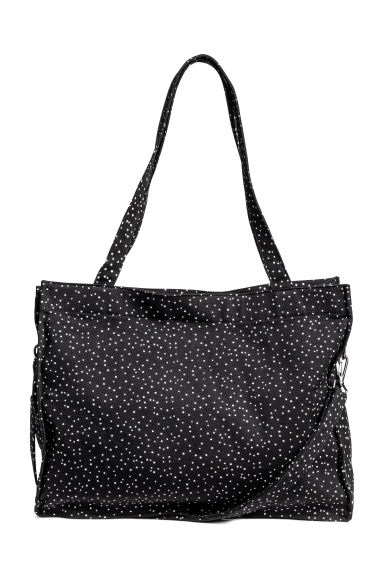 Cotton canvas changing bag - Dark grey/Spotted -  | H&M 1
