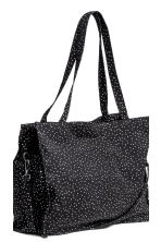 Cotton canvas changing bag - Dark grey/Spotted -  | H&M 3