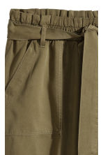 Lyocell skirt - Khaki green - Ladies | H&M 3