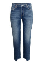 Straight Cropped Jeans - ダークデニムブルー - Ladies | H&M JP 2