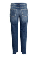 Straight Cropped Jeans - Dark denim blue - Ladies | H&M 3