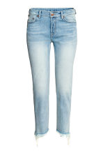Straight Cropped Jeans - Light denim blue - Ladies | H&M 2