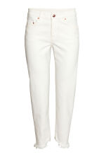 Straight Cropped Jeans - White - Ladies | H&M GB 2
