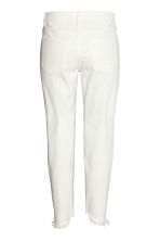 Straight Cropped Jeans - White - Ladies | H&M GB 3