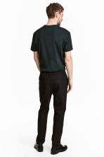 Elasticated trousers in wool - Black - Men | H&M 4