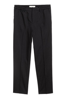 Elasticated trousers in wool