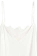 Ribbed strappy top - White - Ladies | H&M 3