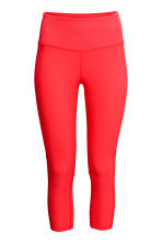 3/4-length sports tights - Red - Ladies | H&M CN 2