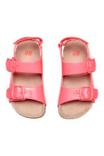 Patent sandals - Neon pink -  | H&M 2