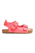 Patent sandals - Neon pink -  | H&M 1