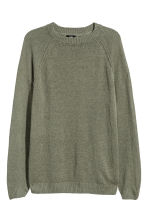 Linen jumper - Khaki green - Men | H&M 2