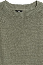 Linen jumper - Khaki green - Men | H&M 3