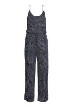 Tricot jumpsuit - Donkerblauw/stippen - DAMES | H&M BE 3