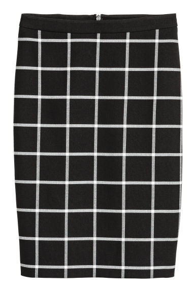 Checked pencil skirt - Black/Checked - Ladies | H&M 1