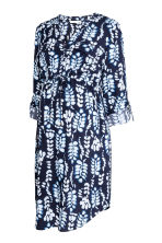 MAMA V-neck dress - Dark blue/Patterned -  | H&M 3