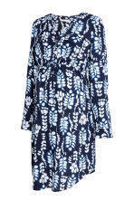 MAMA V-neck dress - Dark blue/Patterned -  | H&M 2