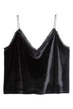 Strappy velour top - Black - Ladies | H&M CN 2