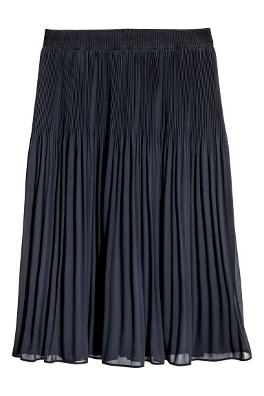 Pleated skirt - Dark blue -  | H&M