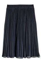 Pleated skirt - Dark blue -  | H&M 1