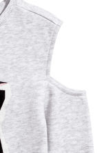 Cold shoulder sweatshirt - Light grey/Tiger - Kids | H&M CN 3